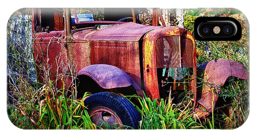 Truck IPhone X Case featuring the photograph Old Rusting Truck by Garry Gay