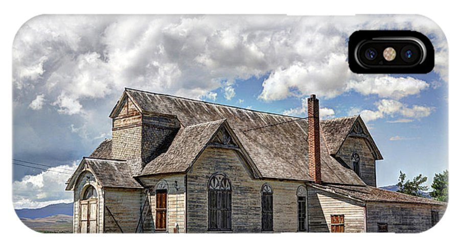 Historic IPhone X Case featuring the photograph Old Schoolhouse - Ovid - Idaho by Gary Whitton