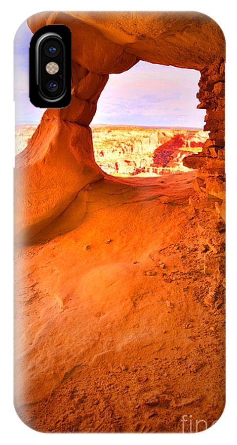 Aztec Butte Trail IPhone X Case featuring the photograph Old Window by Tara Turner