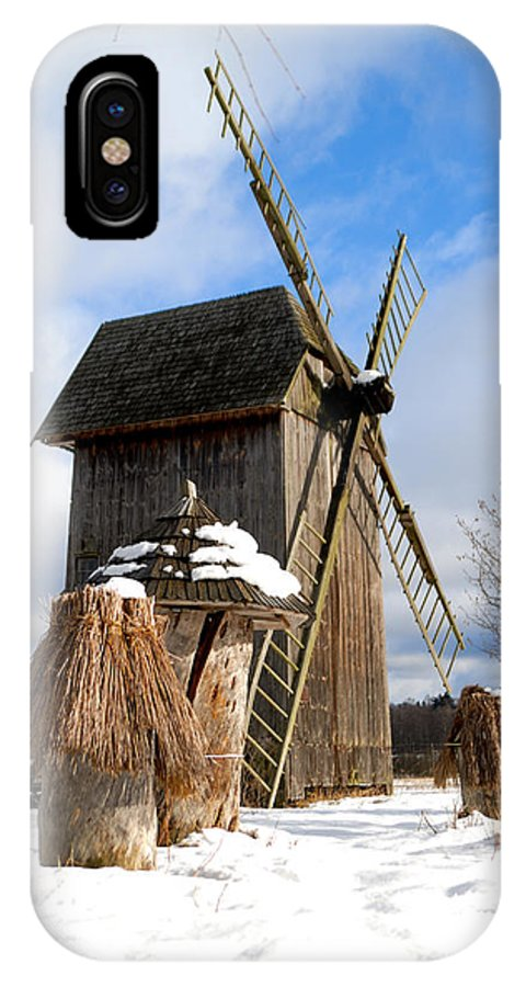 Windmill IPhone X Case featuring the photograph Old Wooden Windmill by Marta Holka