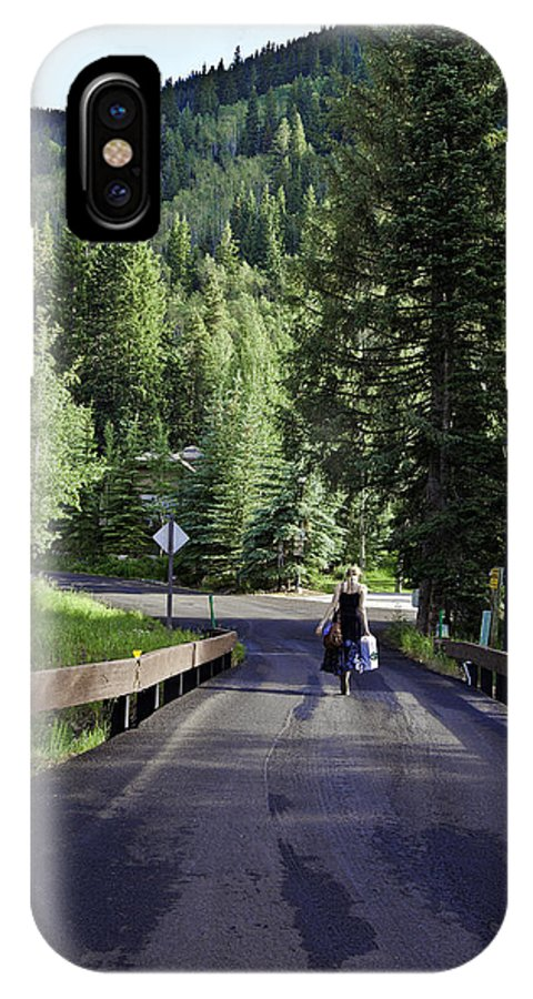 Vail IPhone X Case featuring the photograph On A Country Road - Vail by Madeline Ellis