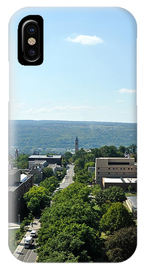 Cornell University IPhone X Case featuring the photograph On The Top Of Cornell by Dennis Stanton
