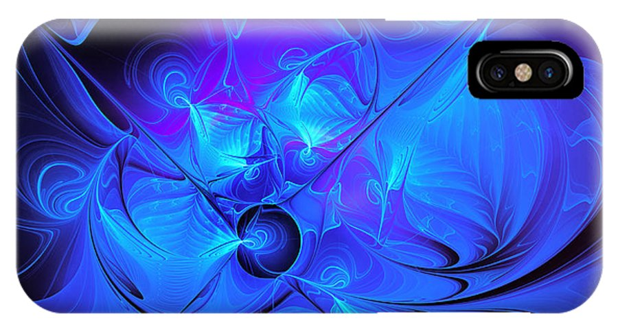 Fractal IPhone X Case featuring the photograph Once In A Blue Moon by Jutta Maria Pusl