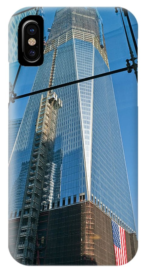 Nyc IPhone X Case featuring the photograph One Wtc Rising by S Paul Sahm