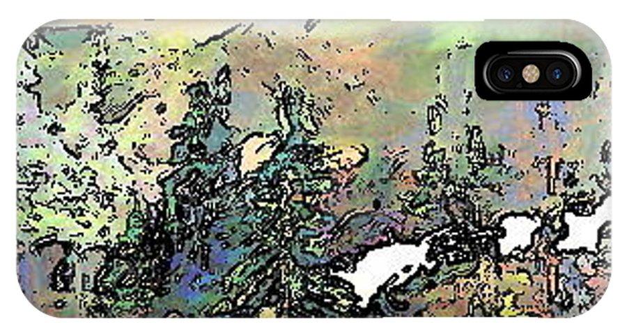 Deborah Montana IPhone X Case featuring the painting Opal Morning by Deborah Montana