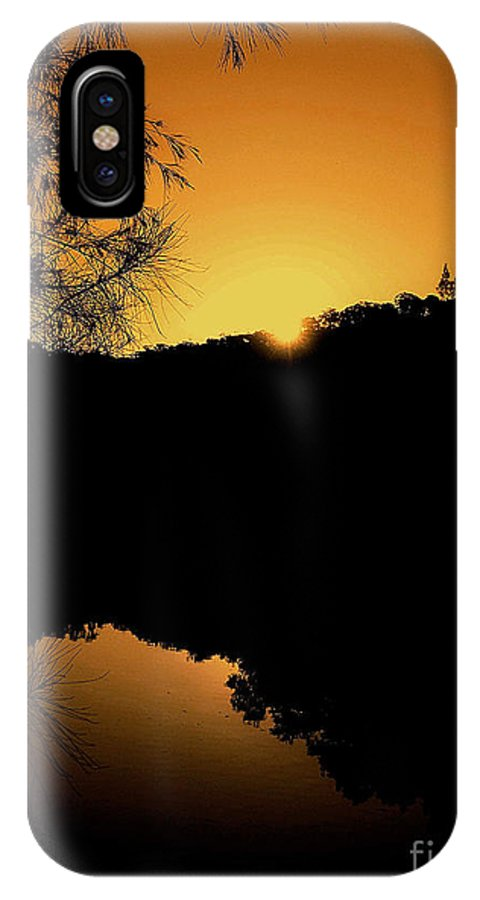 Photography IPhone X / XS Case featuring the photograph Orange Glow by Kaye Menner