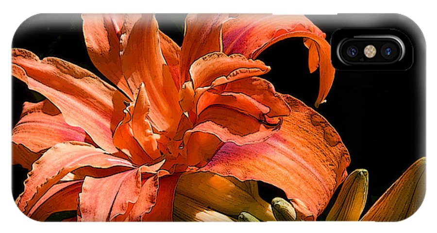 Nature IPhone X Case featuring the photograph Orange Lily by Michael Friedman