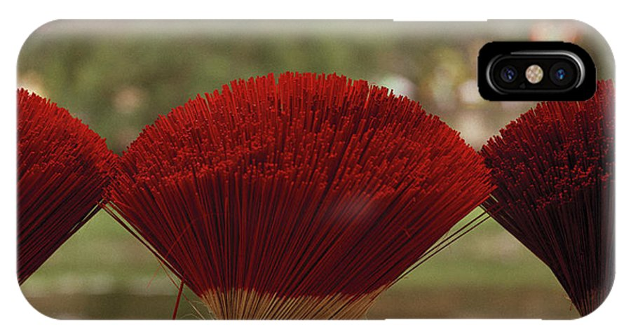 Asia IPhone X Case featuring the photograph Oriental Hue by Shaun Higson