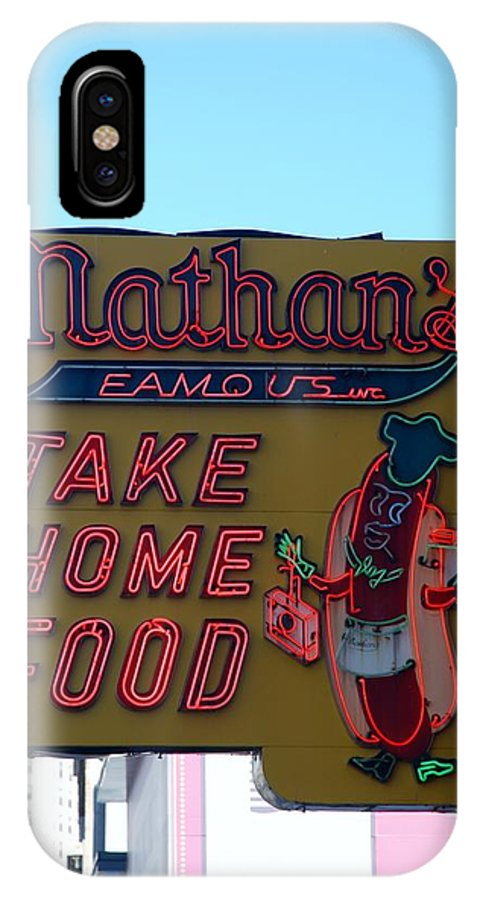 Brooklyn IPhone X Case featuring the photograph Original Nathan's by Rob Hans