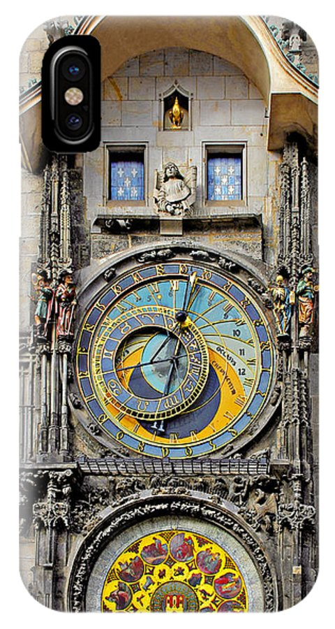 Astronomy IPhone X Case featuring the photograph Orloj - Prague Astronomical Clock by Christine Till