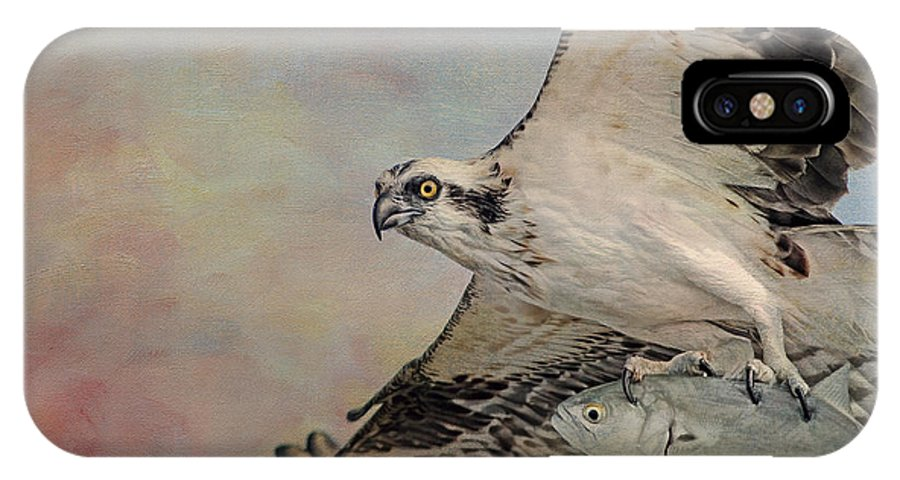 Osprey IPhone X Case featuring the photograph Osprey And Fish by Deborah Benoit