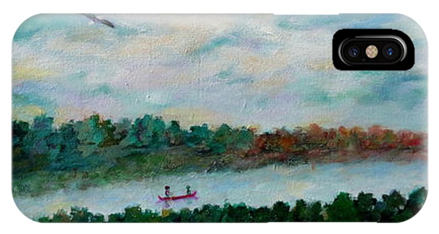 Lakeside IPhone X Case featuring the painting Our Amazing Lake by Naomi Gerrard