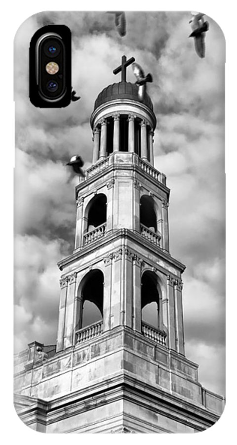 Greenwich Village IPhone X Case featuring the photograph Our Lady Of Pompeii Church by Michael Dorn