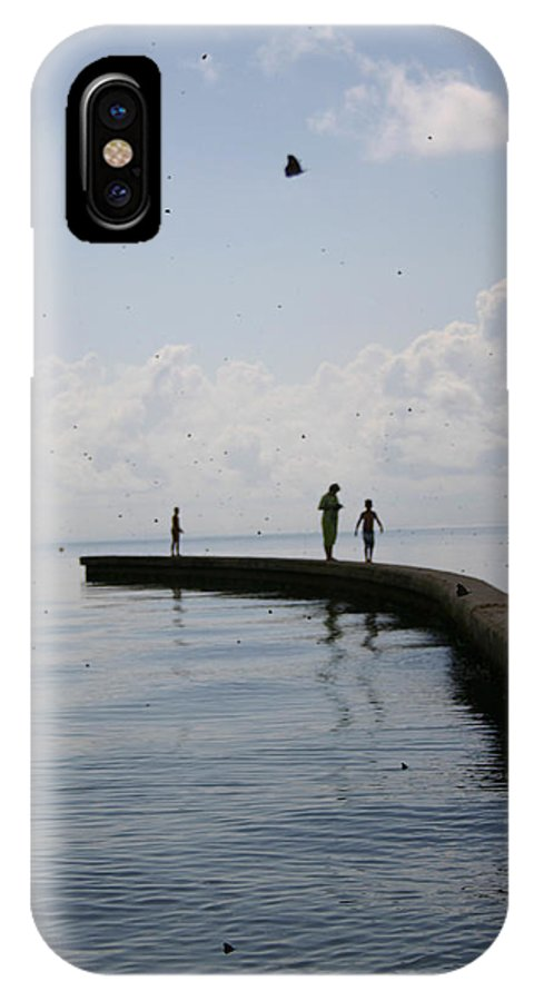 Gulf IPhone X Case featuring the photograph Out To See The Migration by Nina Fosdick