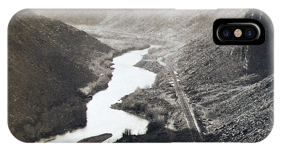 Palisades IPhone X Case featuring the photograph Palisades Railroad View - California - C 1865 by International Images