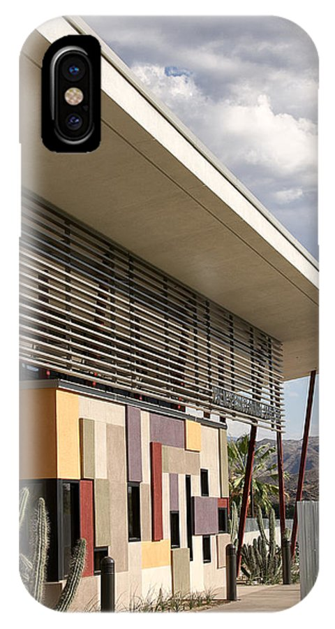 Desert IPhone X Case featuring the photograph Palm Springs Animal Shelter by William Dey