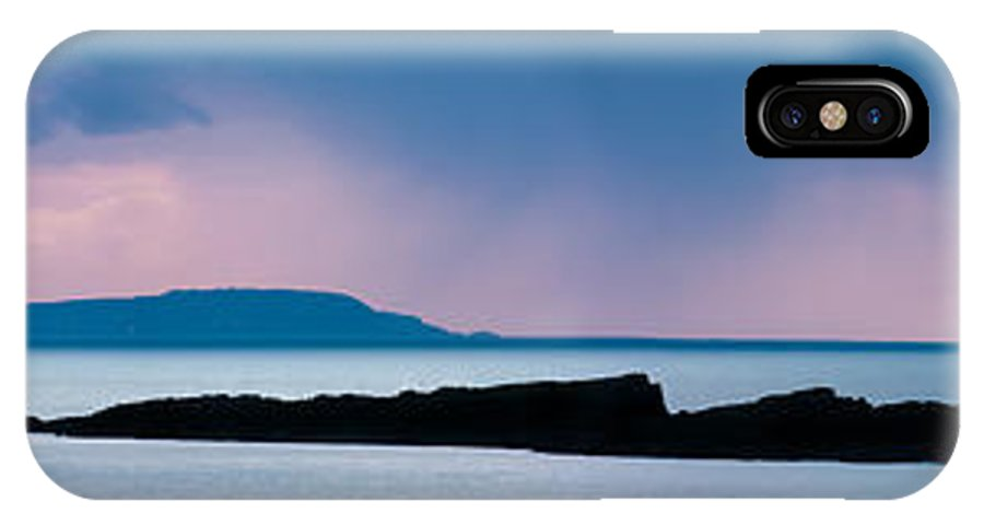 Clouds IPhone X Case featuring the photograph Panoramic View Of Skerries Islands by Semmick Photo