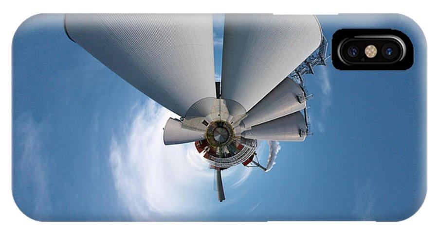 Jouko Lehto IPhone X Case featuring the photograph Paper Mill In The Sky by Jouko Lehto