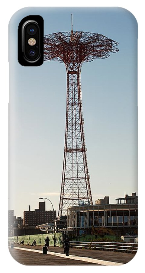 Brooklyn IPhone X Case featuring the photograph Parachute Drop by Rob Hans