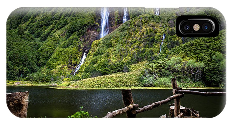 Waterfalls IPhone X / XS Case featuring the photograph Paradise by Edgar Laureano