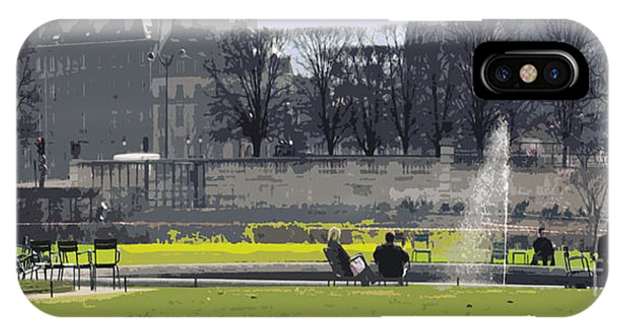 Paris IPhone X Case featuring the photograph Paris 02 by Yuriy Shevchuk