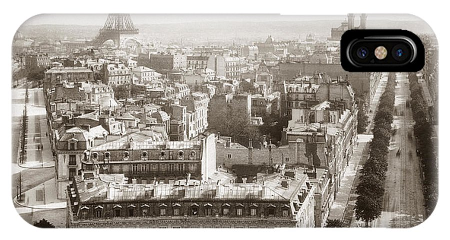 1900 IPhone X / XS Case featuring the photograph Paris: Aerial View, 1900 by Granger