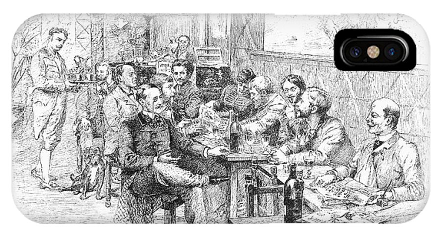 1889 IPhone X / XS Case featuring the photograph Paris: Chat Noir, 1889 by Granger