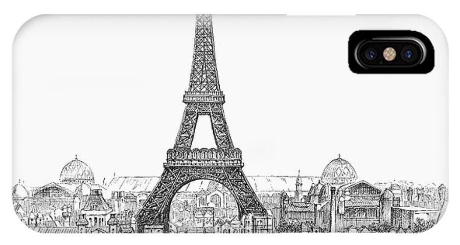 1889 IPhone X / XS Case featuring the photograph Paris Exhibition, 1889 by Granger