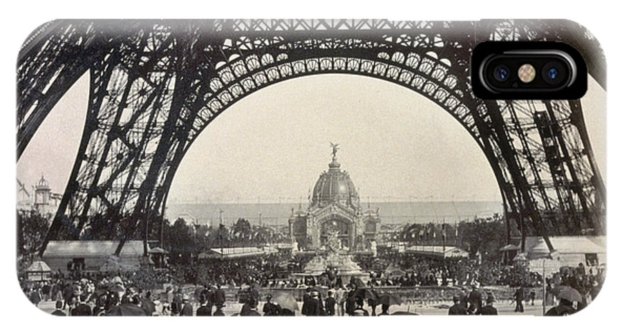 1889 IPhone X / XS Case featuring the photograph Paris Exposition, 1889 by Granger