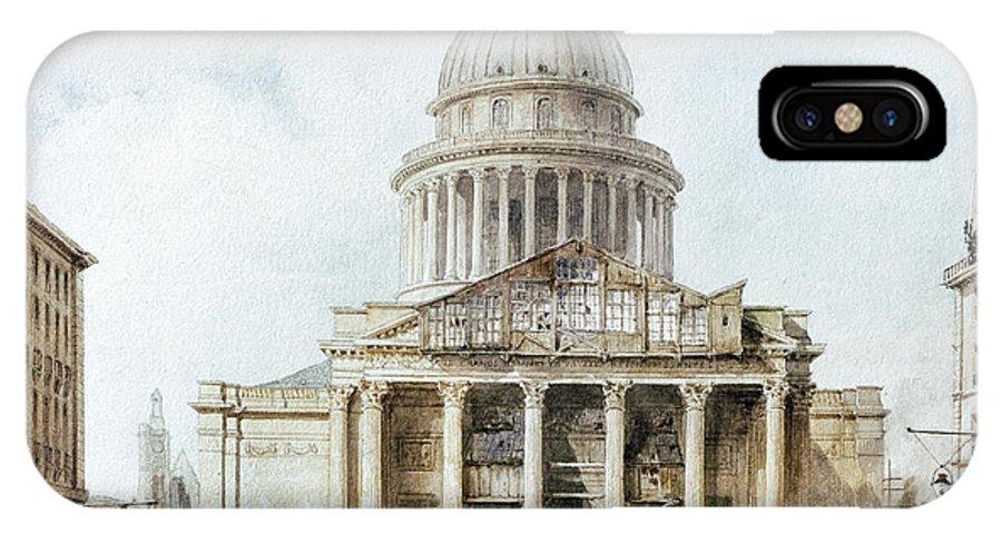 1835 IPhone X / XS Case featuring the photograph Paris: Pantheon, 1835 by Granger