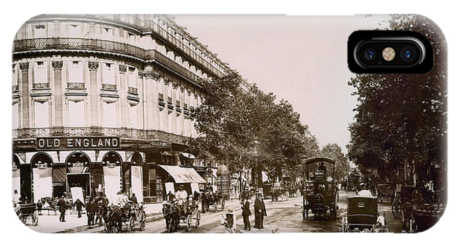 1890 IPhone X / XS Case featuring the photograph Paris: Street Scene, 1890 by Granger