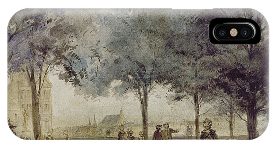 1786 IPhone X / XS Case featuring the photograph Paris: Tuilerie Gardens by Granger