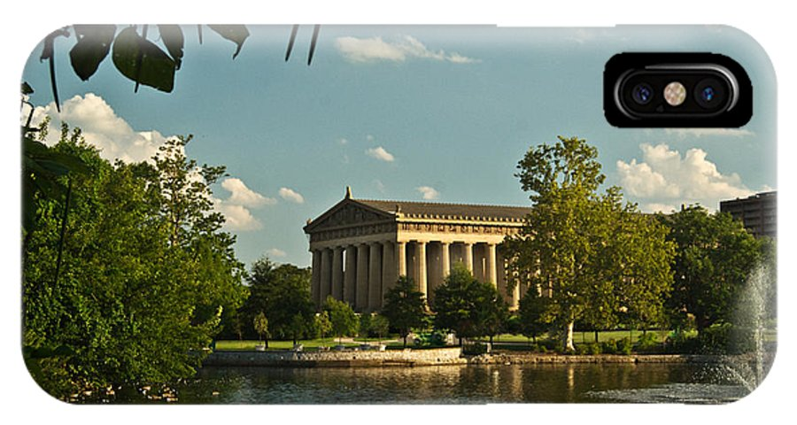 Parthenon IPhone X / XS Case featuring the photograph Parthenon At Nashville Tennessee 1 by Douglas Barnett