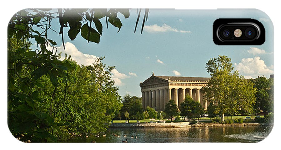 IPhone X / XS Case featuring the photograph Parthenon At Nashville Tennessee 2 by Douglas Barnett