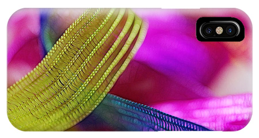 Green IPhone X Case featuring the photograph Party Ribbons by Judi Bagwell