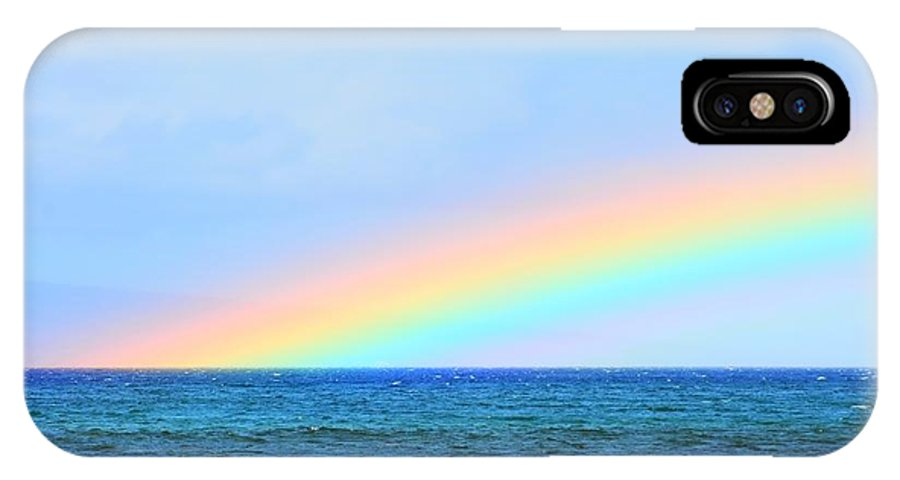 Rainbow IPhone X Case featuring the photograph Pastel Rainbow by Richard Omura