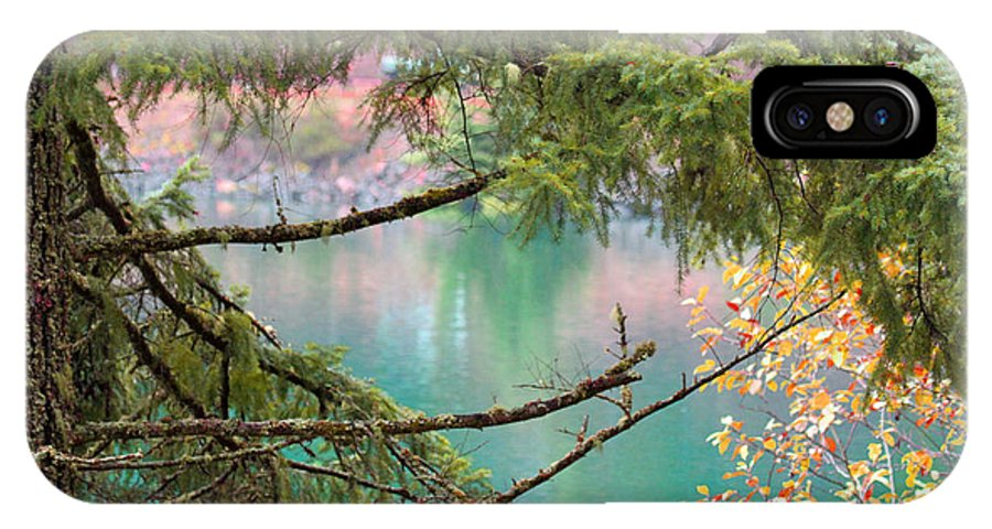 Lake IPhone X Case featuring the photograph Pastels Emphasized by Marie Jamieson