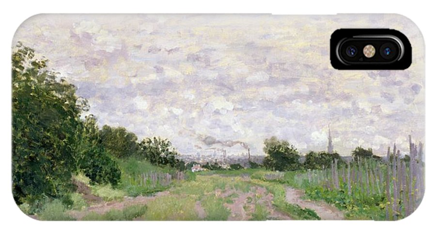 Path IPhone X Case featuring the painting Path Through The Vines At Argenteuil by Claude Monet