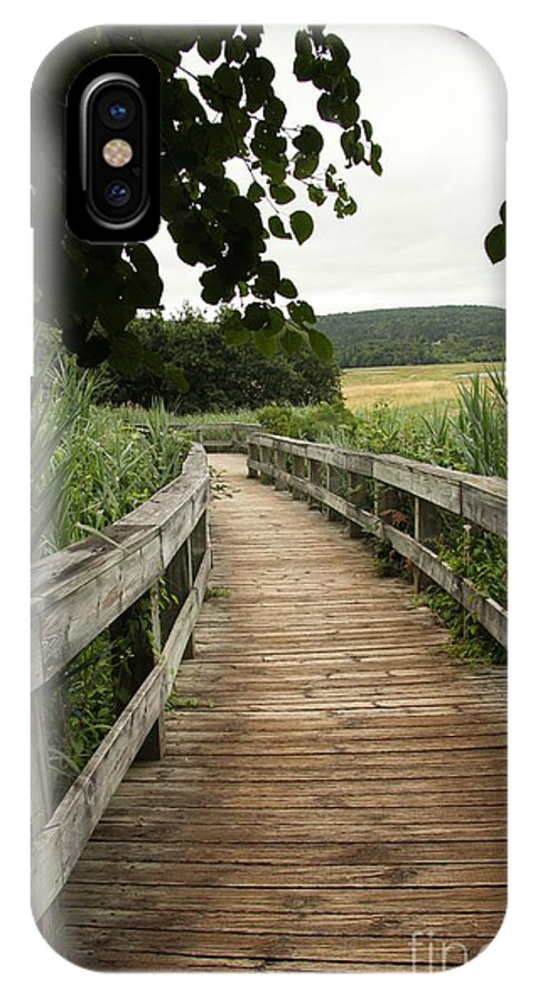 Pathway IPhone X Case featuring the photograph Paths by Diane Greco-Lesser