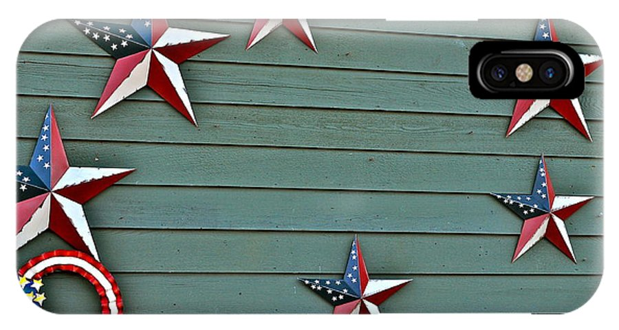 Star Photographs IPhone X / XS Case featuring the photograph Patriotism by Catherine Conroy