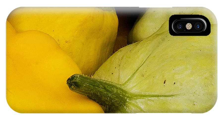 Fine Art IPhone X Case featuring the photograph Patty Pan Squash by Michael Friedman