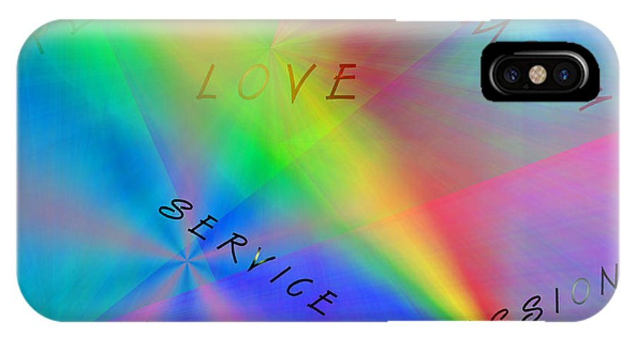 Peace Canvas Prints IPhone X Case featuring the digital art Peace Aspirations by Marie Jamieson