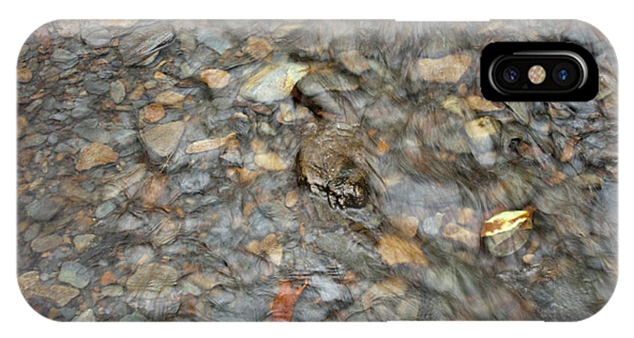Water IPhone X Case featuring the photograph Pebblebrook by Michael Waters
