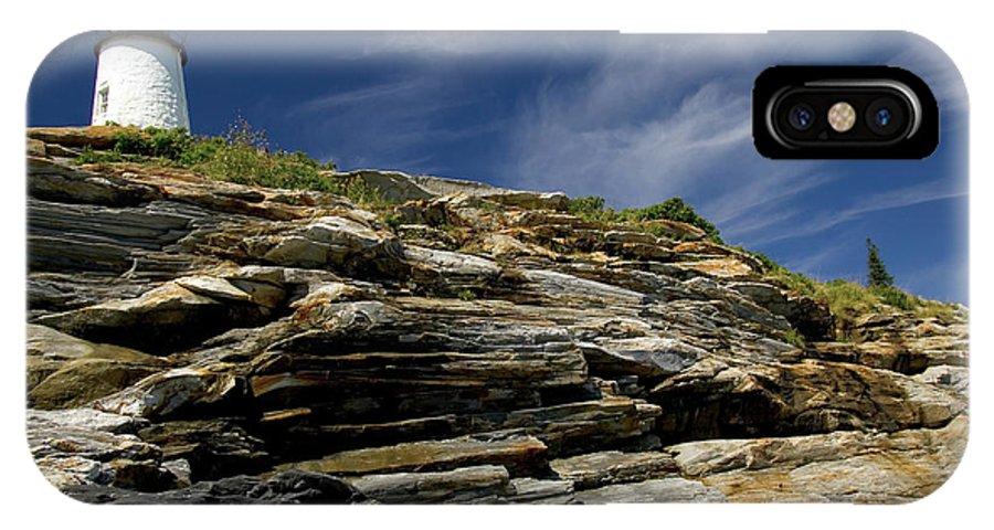 Pemaquid Point Lighthouse IPhone X Case featuring the photograph Pemaquid Point Lighthouse by Rick Berk