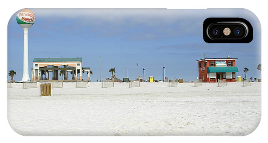 Architectural IPhone X Case featuring the photograph Pensacola Beach by Nina Fosdick