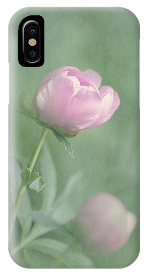Peony IPhone X / XS Case featuring the photograph Peony Buds by Cheryl Butler