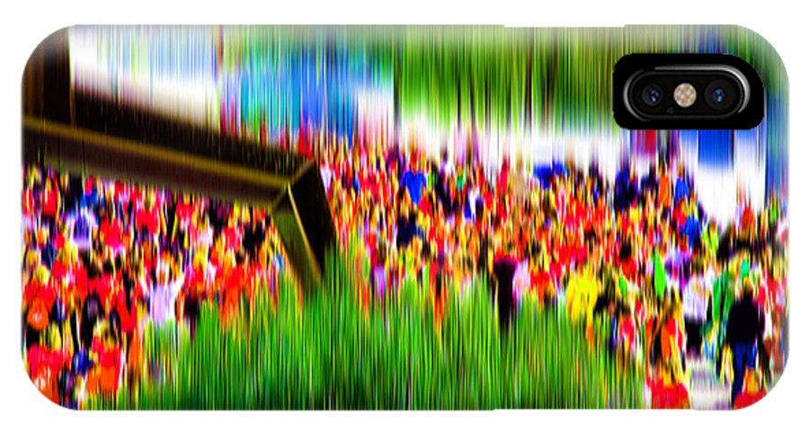 Abstract IPhone X Case featuring the digital art People Walking In The City-8 by Joel Vieira