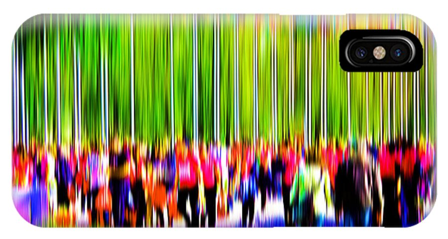 Abstract IPhone X Case featuring the digital art People Walking In The City-9 by Joel Vieira