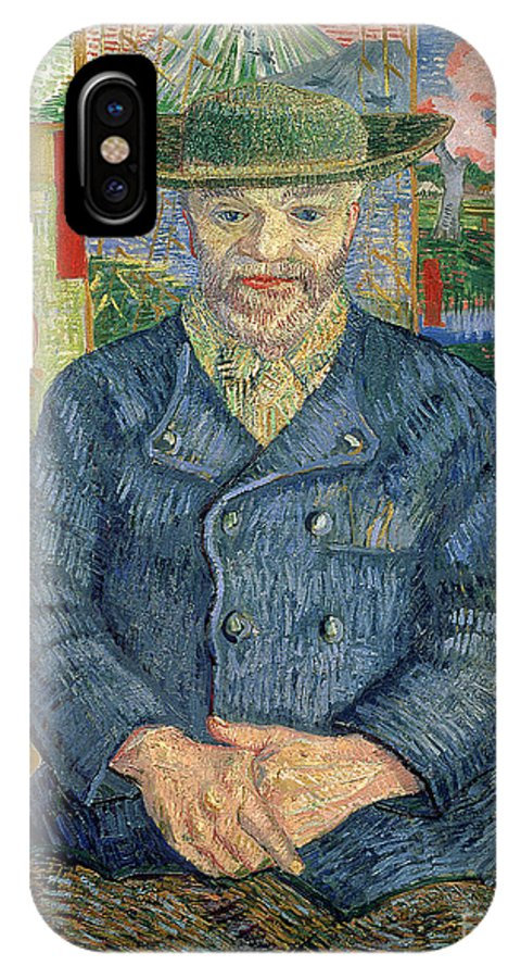 Post-impressionist; Portrait; Male; Paintings; Art Dealer; Screen; Julien IPhone X Case featuring the painting Pere Tanguy by Vincent van Gogh