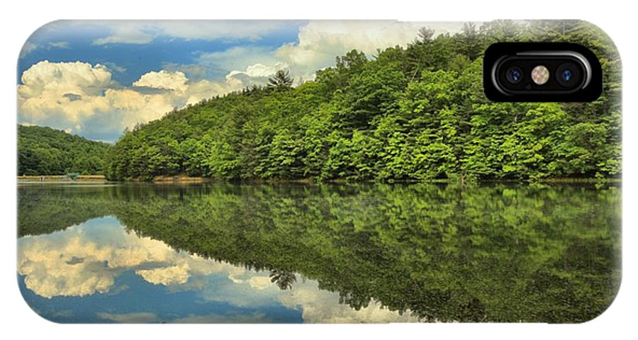 Long Branch Lake IPhone X Case featuring the photograph Perfect Reflections by Adam Jewell